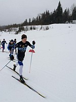 Levi Nadlersmith during qualifying race in Canada Haywood