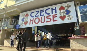 Entry to Czech House in Sochi